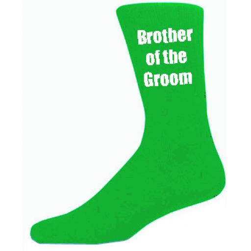 Green Mens Wedding Socks - High Quality Brother of the Groom Green Socks (Adult 6-12)