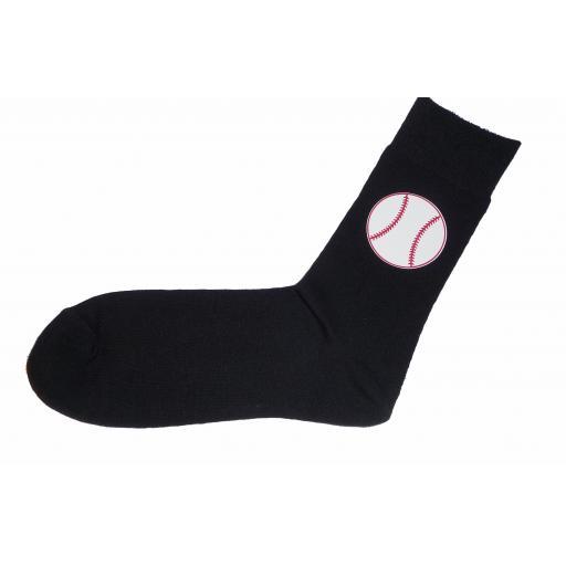 Base Ball Socks, Great Novelty Gift Socks Luxury Cotton Novelty Socks Adult size UK 6-12 Euro 39-49