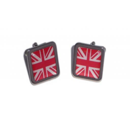 Red Union Jack cufflinks