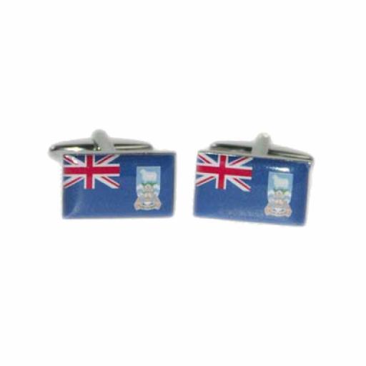 Falkland Islands Flag Cufflinks (BOCF88)