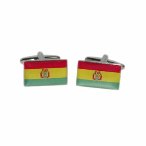 Bolivia Flag Cufflinks (BOCF78)