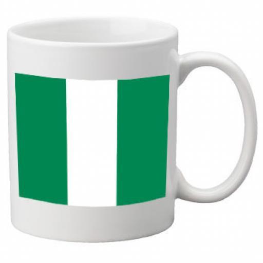 Nigeria Flag Ceramic Mug 11oz Mug, Great Novelty Mug