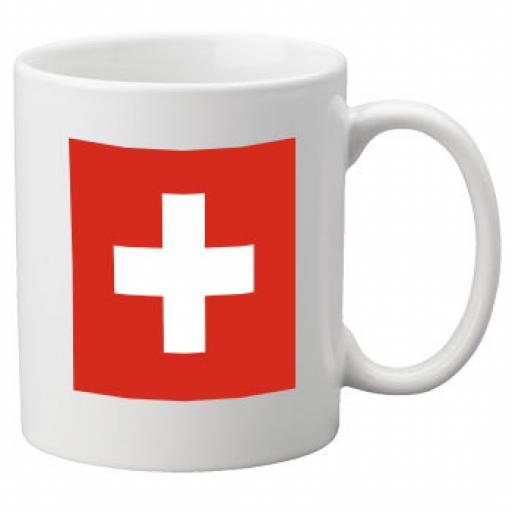 Switzerland Flag Ceramic Mug 11oz Mug, Great Novelty Mug