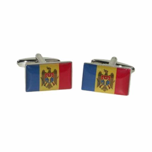 Moldova Flag Cufflinks (BOCF101)