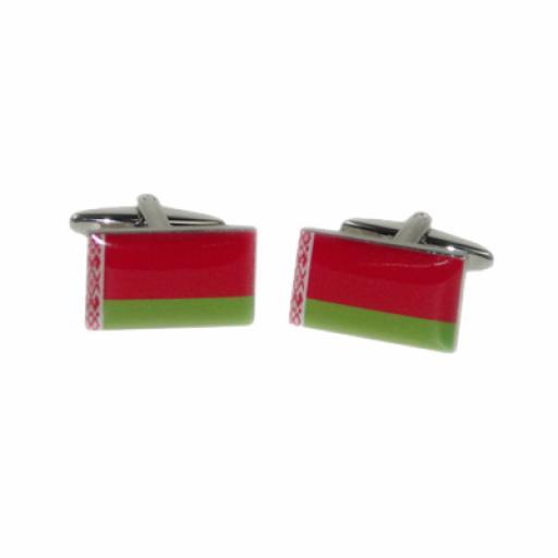 Belarus Flag Cufflinks (BOCF76)