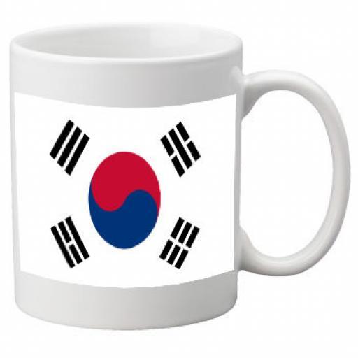 South Korea Flag Ceramic Mug 11oz Mug, Great Novelty Mug