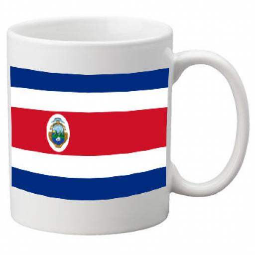 Costa Rica Flag Ceramic Mug 11oz Mug, Great Novelty Mug