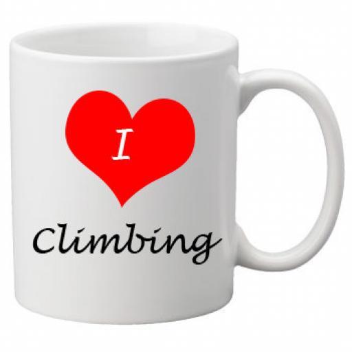 I Love Climbing 11oz Ceramic Mug