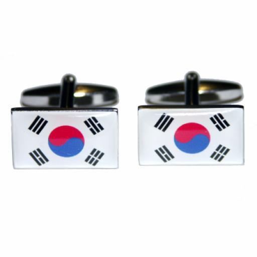 Korea Republic Flag Cufflinks (BOCF7)