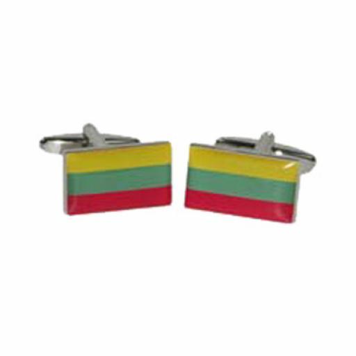 Lithuania Flag Cufflinks (BOCF99)