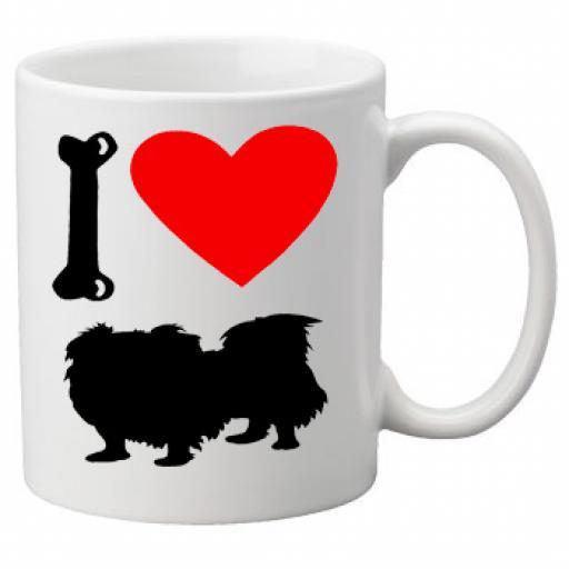 I Love Pekingese Dogs on a Quality Mug, Birthday or Christmas Gift Great Novelty 11oz Mug