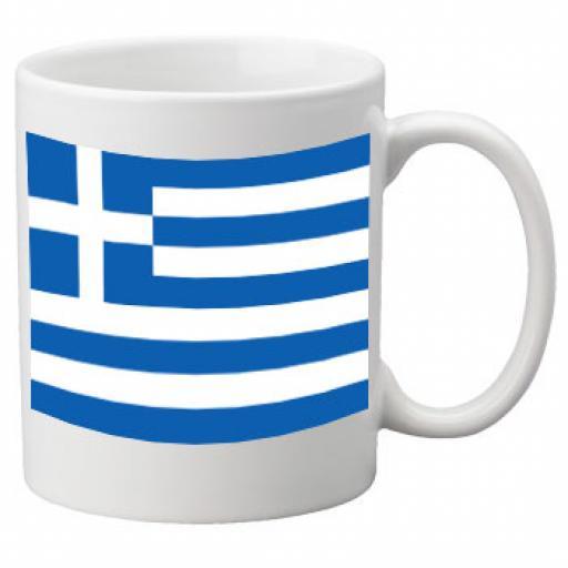 Greece Flag Ceramic Mug 11oz Mug, Great Novelty Mug