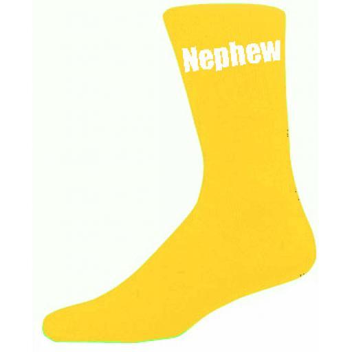Yellow Mens Wedding Socks - High Quality Nephew Yellow Socks (Adult 6-12)