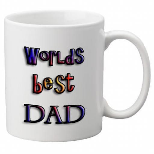 Worlds Best Dad (Multi Colour Design) 11oz Mug