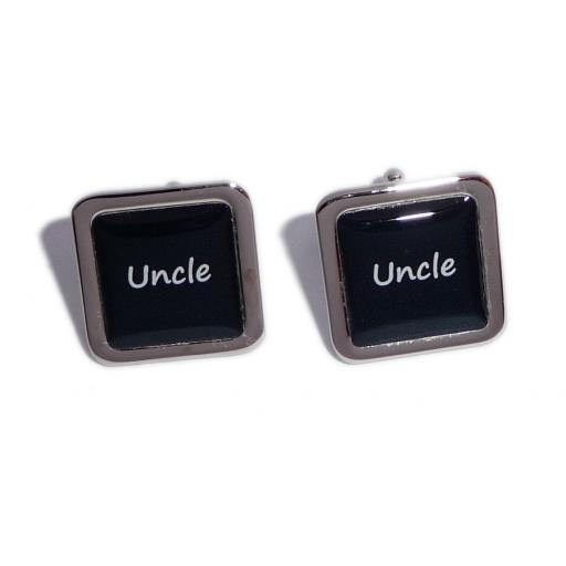 Uncle Black Square Wedding Cufflinks