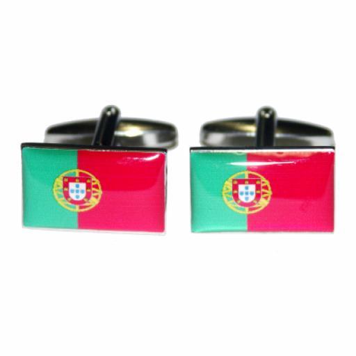Portugal Flag Cufflinks (BOCF28)