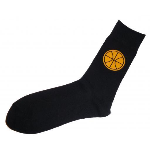 Basket Ball Socks, Great Novelty Socks Adult size UK 6-12 Euro 39-49