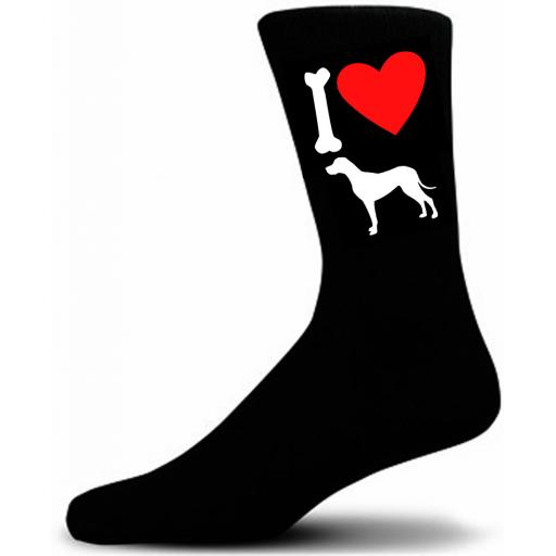 Mens Black Novelty Great Dane Socks- I Love My Dog Socks Luxury Cotton Novelty Socks Adult size UK 5-12 Euro 39-49