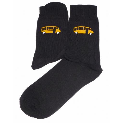 Yellow Bus Design Socks Great Novelty Gift Socks Luxury Cotton Novelty Socks Adult size UK 6-12 Euro 39-49