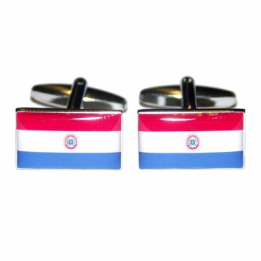 Paraguay Flag Cufflinks (BOCF22)