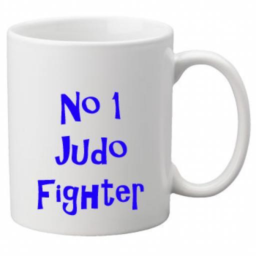 No 1 Judo Fighter, 11oz Ceramic Mug