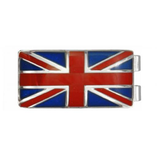 Money Clip Union Jack (UK) flag - Rhodium plate A Great High Quality Product