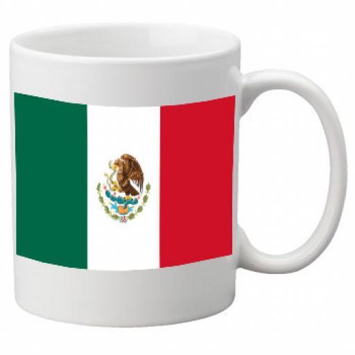 Mexico Flag Ceramic Mug 11oz Mug, Great Novelty Mug