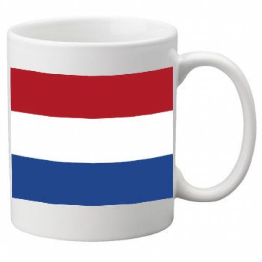 Netherlands Flag Ceramic Mug 11oz Mug, Great Novelty Mug