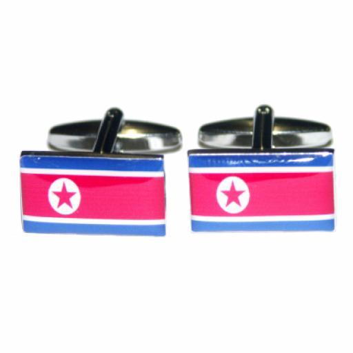 Korea DPR Flag Cufflinks (BOCF26)