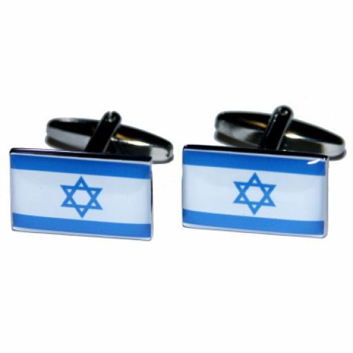 Israel Flag Cufflinks (BOCF36)