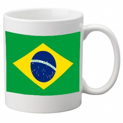 Brazil Flag Ceramic Mug 11oz Mug, Great Novelty Mug