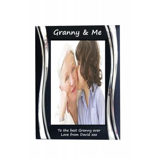 Granny & Me Black Metal 4 x 6 Frame - Personalise this frame - Free Engraving