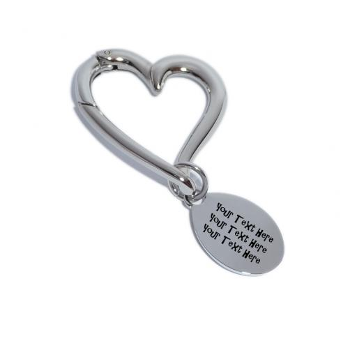 Personalised Heart Keyring with engraving tab