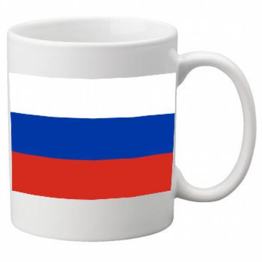 Russia Flag Ceramic Mug 11oz Mug, Great Novelty Mug