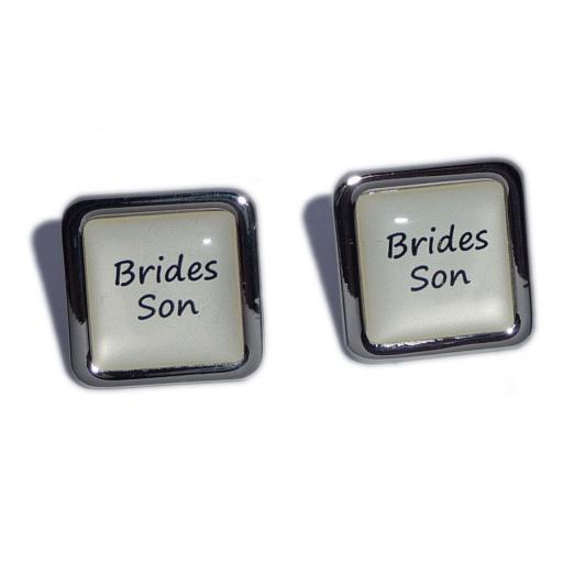 Brides Son Ivory Square Wedding Cufflinks