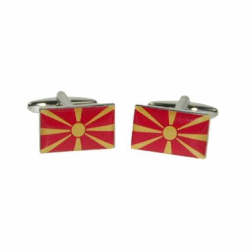 Macedonia Flag Cufflinks (BOCF100)