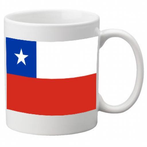 Chile Flag Ceramic Mug 11oz Mug, Great Novelty Mug