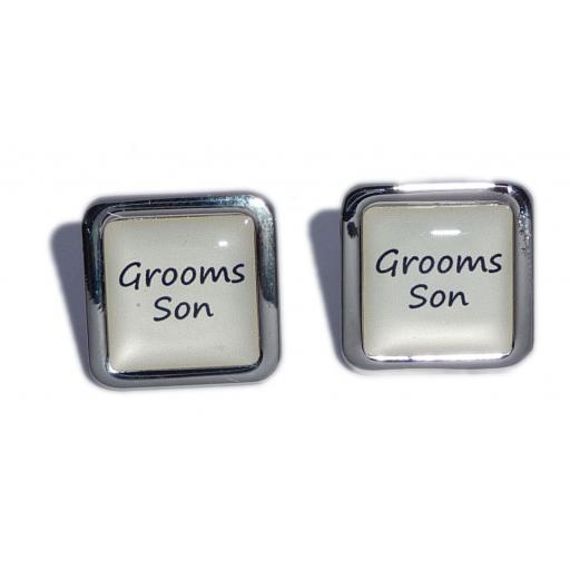 Grooms Son Ivory Square Wedding Cufflinks