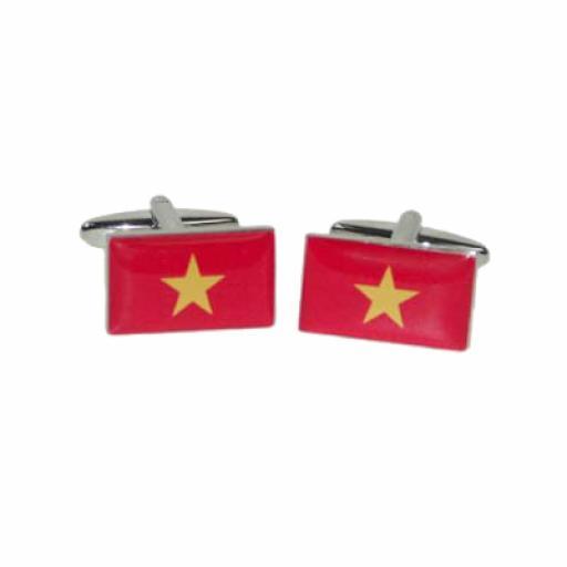Vietnam Flag Cufflinks (BOCF119)