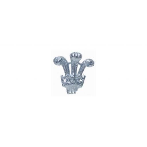 Prince of Wales feathers Tie Tac - Sterling Silver with metal fittings All our cufflinks come presented in a gift box