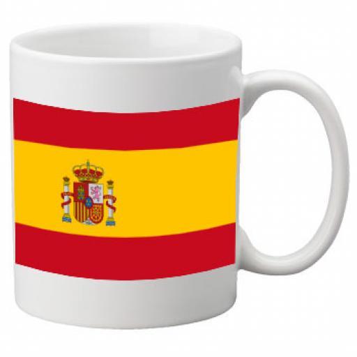 Spain Flag Ceramic Mug 11oz Mug, Great Novelty Mug