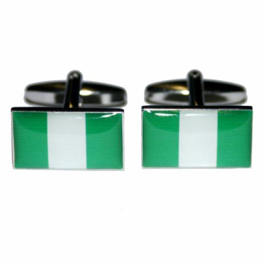 Nigeria Flag Cufflinks (BOCF6)
