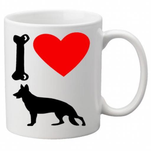 I Love Alsatian Dogs on a Quality Mug, Birthday or Christmas Gift Great Novelty 11oz Mug