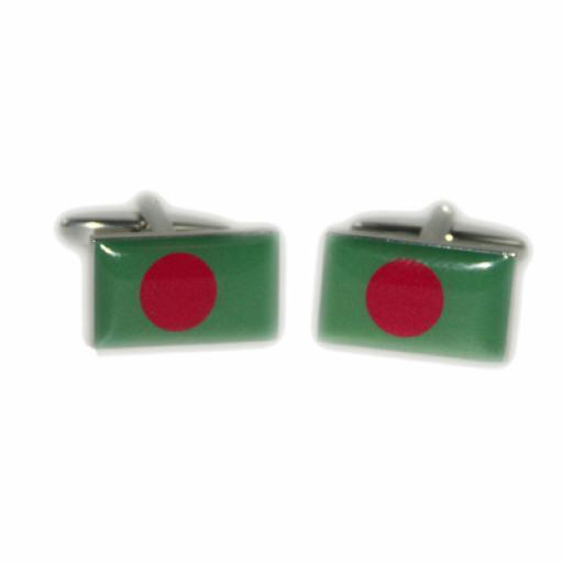 Bangladesh Flag Cufflinks (BOCF75)