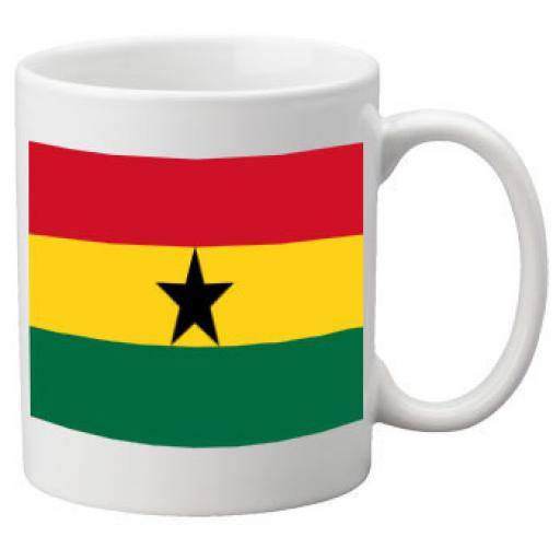 Ghana Flag Ceramic Mug 11oz Mug, Great Novelty Mug