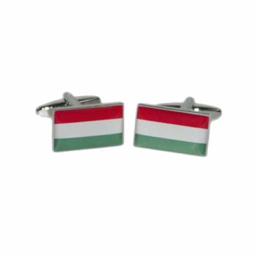 Hungary Flag Cufflinks (BOCF91)