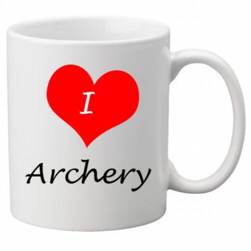 I Love Archery 11oz Ceramic Mug