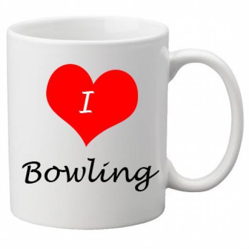 I Love Bowling 11oz Ceramic Mug