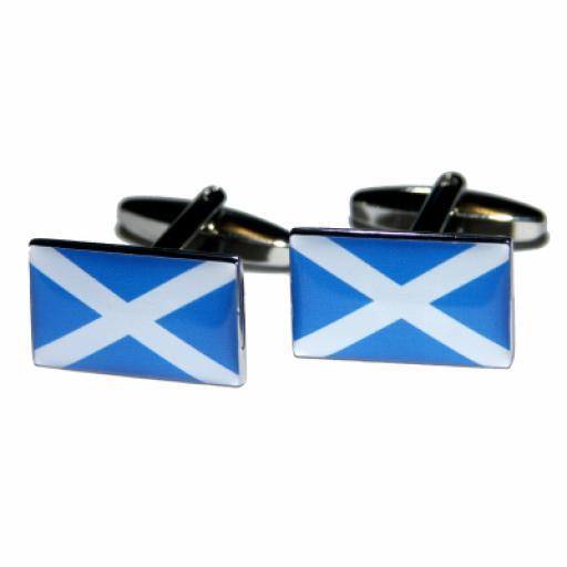 Scotland Flag Cufflinks (BOCF45)