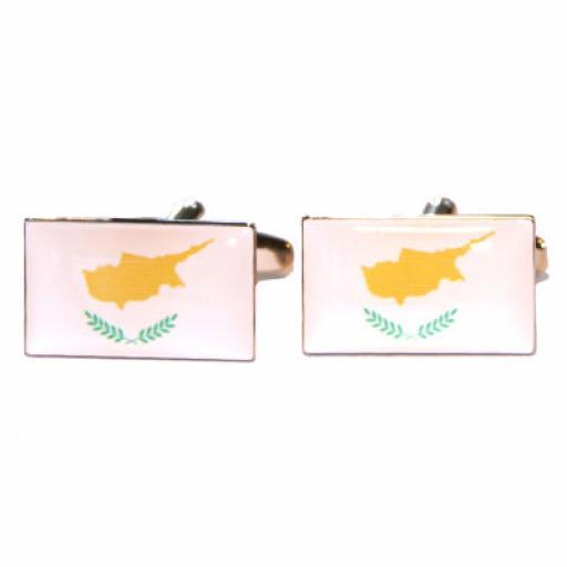 Cyprus Flag Cufflinks (BOCF55)